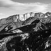 Black And White Mountains Poster
