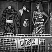 Black And White Outdoor Clothing Display Poster