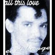 Black And White  Photo Of El Debarge Poster