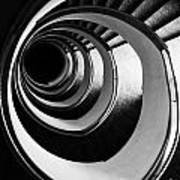 Black And White Spirals Poster