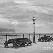 Black And White Swanage Pier Poster