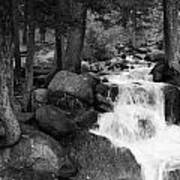 Black And White Waterfall Poster