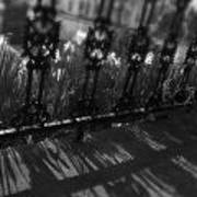 Black And White Wrought-iron Porch Poster