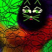 Black Cat Dreams Poster by Rosana Ortiz
