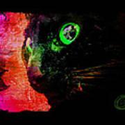 Black Cat Neon Poster