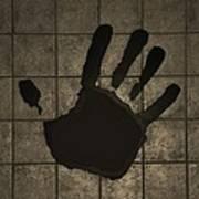 Black Hand Sepia Poster
