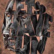 Black Labrador Typography Artwork Poster