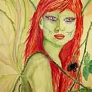 Black Raspberry Faerie Poster by Carrie Viscome Skinner