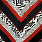 Black Thai Fabric 01 Poster