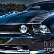 Black Truefiber Mustang Poster