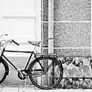 Black Vintage Bicycle Poster by Jimmy Karlsson