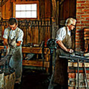 Blacksmith And Apprentice Poster