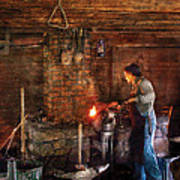 Blacksmith - Cooking With The Smith's  Poster by Mike Savad