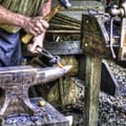 Blacksmith Working Iron V1 Poster