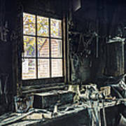 Blacksmiths Workbench - One October Afternoon Poster