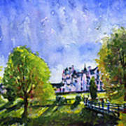 Blair Castle Bridge Scotland Poster