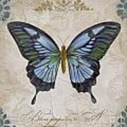 Bleu Papillon-a Poster