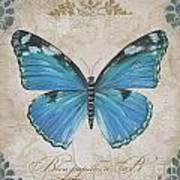 Bleu Papillon-b Poster