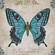 Bleu Papillon-c Poster