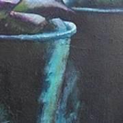 Bleu Pots Poster