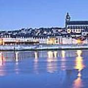 Blois Loire Valley Panorama Twilight  Centre France Poster