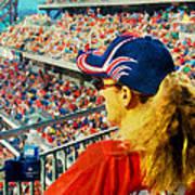 Blonde At The Ballgame Poster