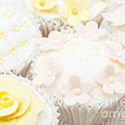 Blossoms And Bows Cupcake Poster