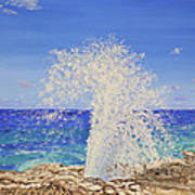Blow Holes Grand Cayman Poster