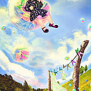 Blowing Bubbles Poster by Fairy Tales Imagery Inc