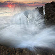 Blowing Rocks Sunrise Explosion Poster by Mike  Dawson