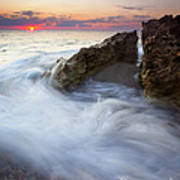 Blowing Rocks Sunrise Poster