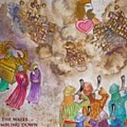 Blowing The Shofar At Jericho With Words Poster