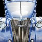 Blue 1937 Chevy Too Poster