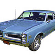 Blue 1966 Pointiac Lemans Poster