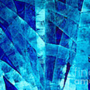 Blue Abstract Art - Paths - By Sharon Cummings Poster