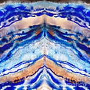 Blue Agate Abstract II Poster