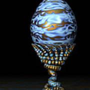 Blue And Golden Egg Poster
