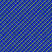 Blue And Green Diagonal Plaid Pattern Cloth Background Poster