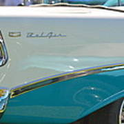 Blue And White Bel Air Convertable Poster