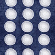 Blue And White Shibori Balls Poster