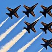 Blue Angels Overhead Poster