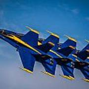 Blue Angels Single File Poster