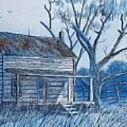 Blue Landscape Poster