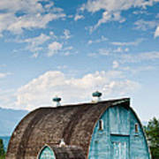 Blue Barn In The Stillaguamish Valley Poster