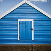 Blue Beach Hut Poster