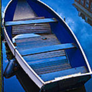 Blue Boat Poster