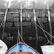 Blue Boat Poster