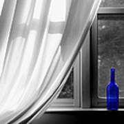 Blue Bottle Poster by Diane Diederich