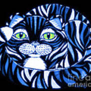 Blue Cat Green Eyes Poster