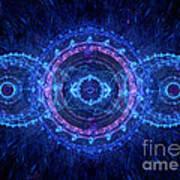 Blue Circle Fractal Poster by Martin Capek
